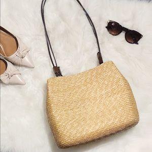 Wicker straw vintage handbag pocketbook summer
